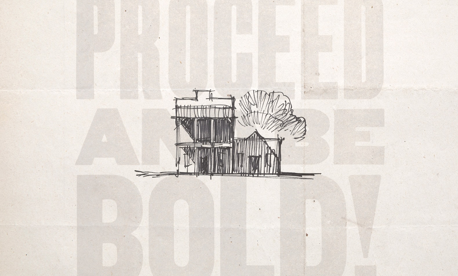 sketch of red barn
