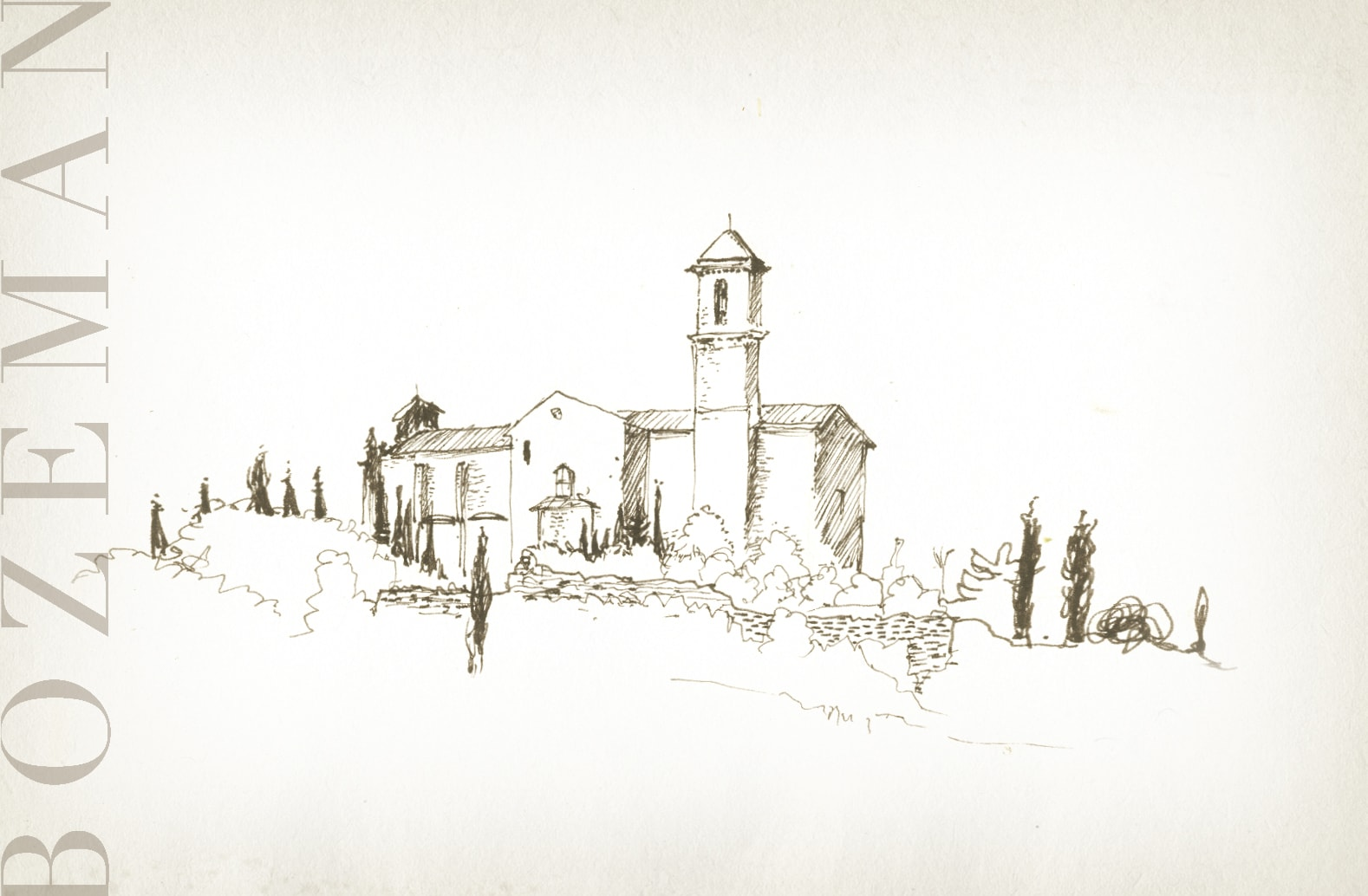 sketch of Bozeman