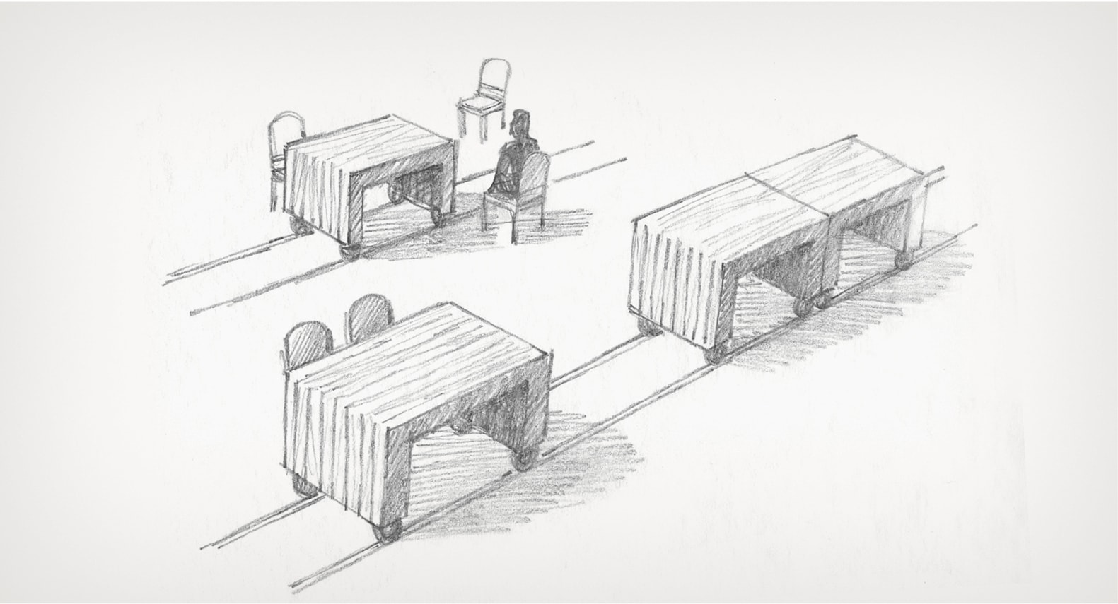 sketch of reclaimed tables