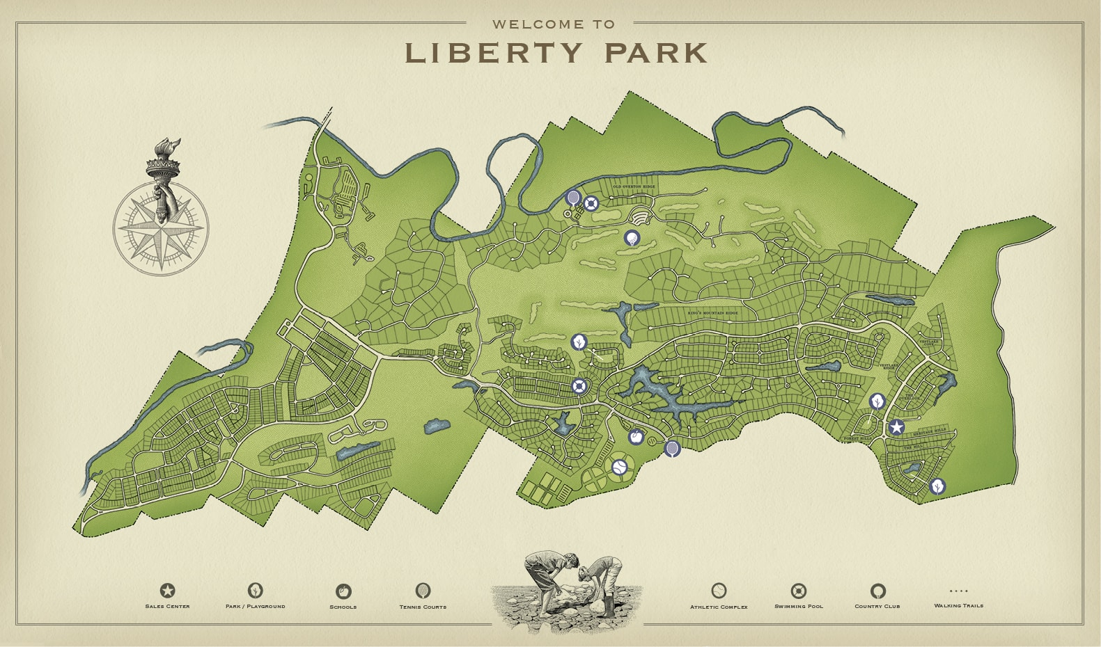 Map of Liberty Park